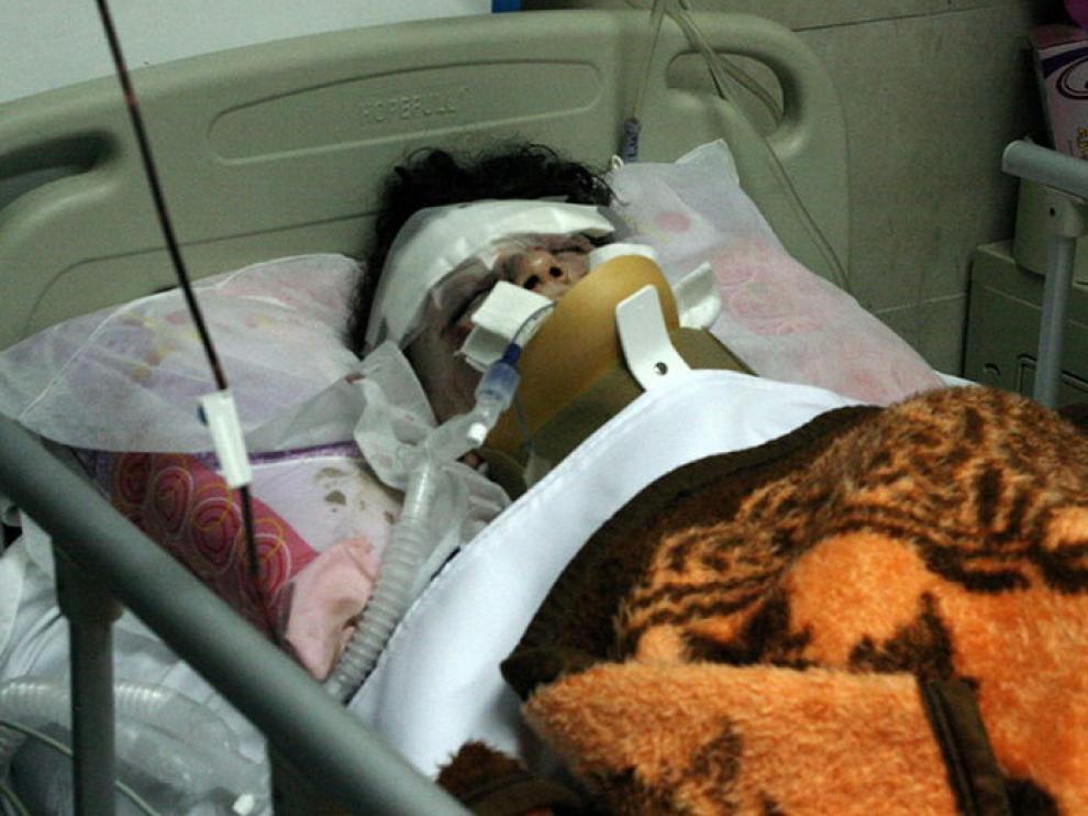 Uno de los supervivientes del accidente, en el hospital