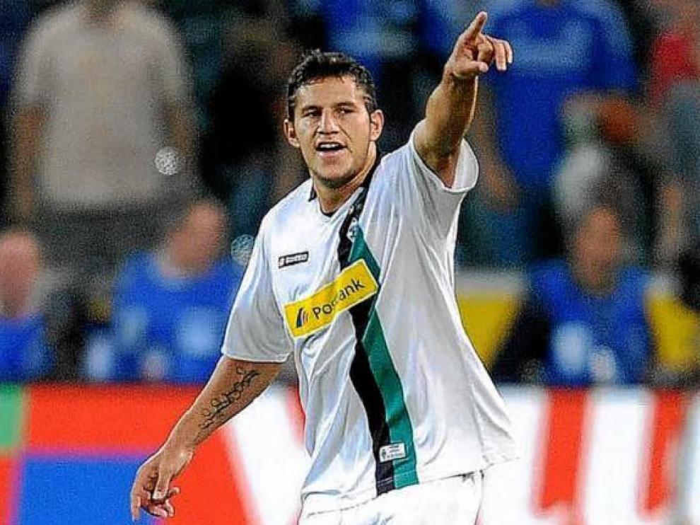 Raúl Bobadilla, argentino del Borussia Moenchengladbach, en un partido reciente en la Bundesliga.