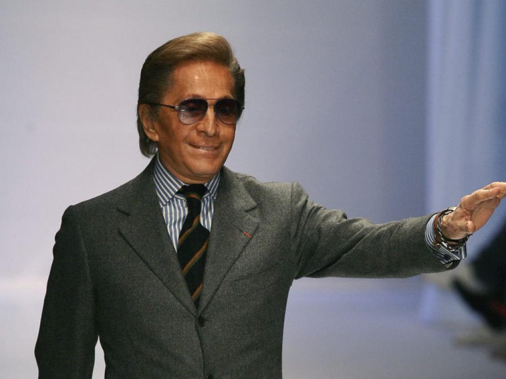 El diseñador italiano Valentino Garavani
