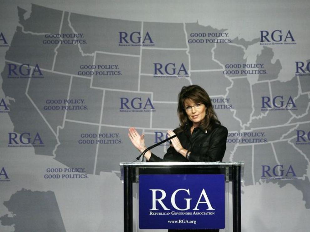Sarah Palin, en un acto político
