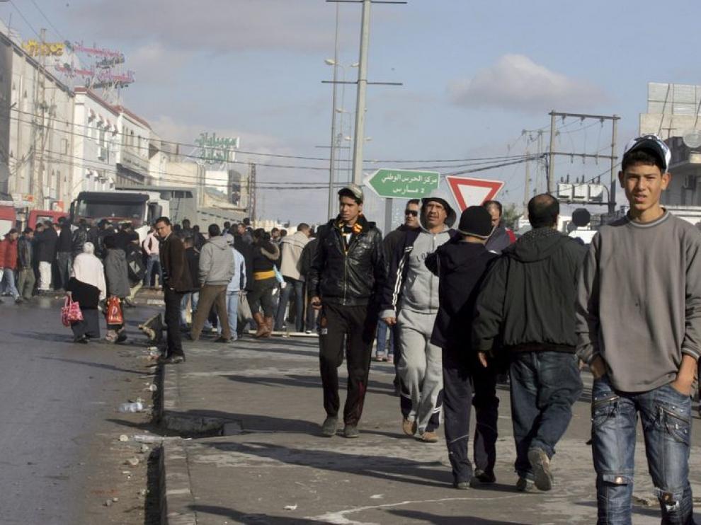 Protestas en el centro de Túnez