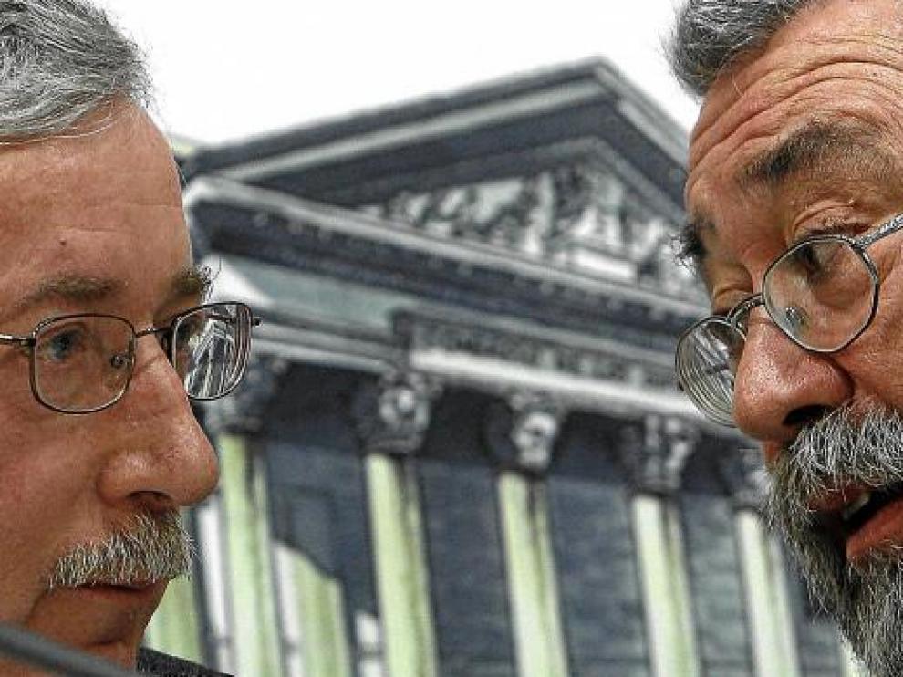 Ignacio Fernández Toxo y Cándido Méndez, en noviembre del año pasado.