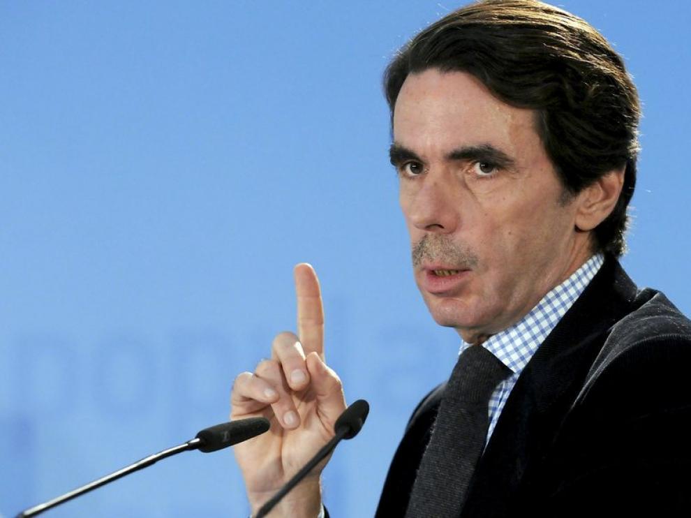 El ex presidente del Gobierno José María Aznar