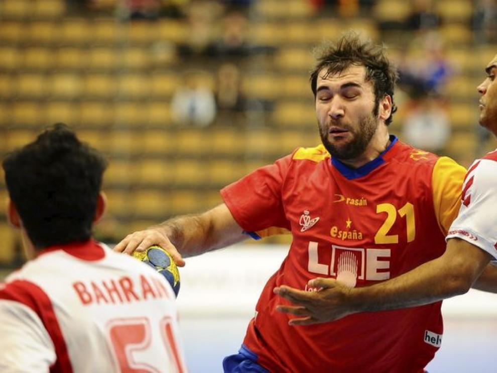 Canellas, en el partido de España contra Bahrein