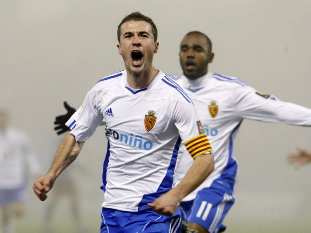 Gabi celebra el gol.