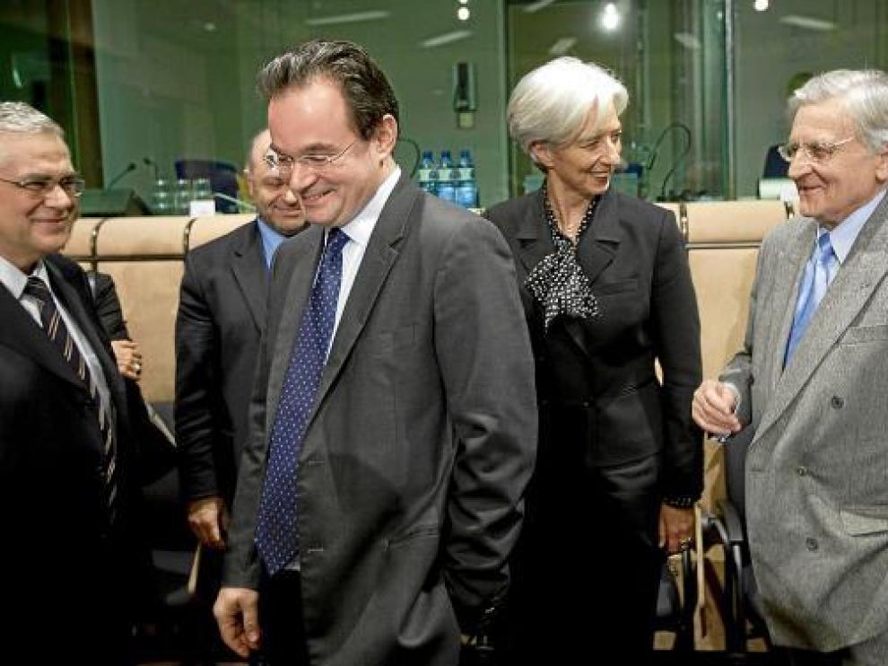 Lagarde y Trichet, de izquierda a derecha.