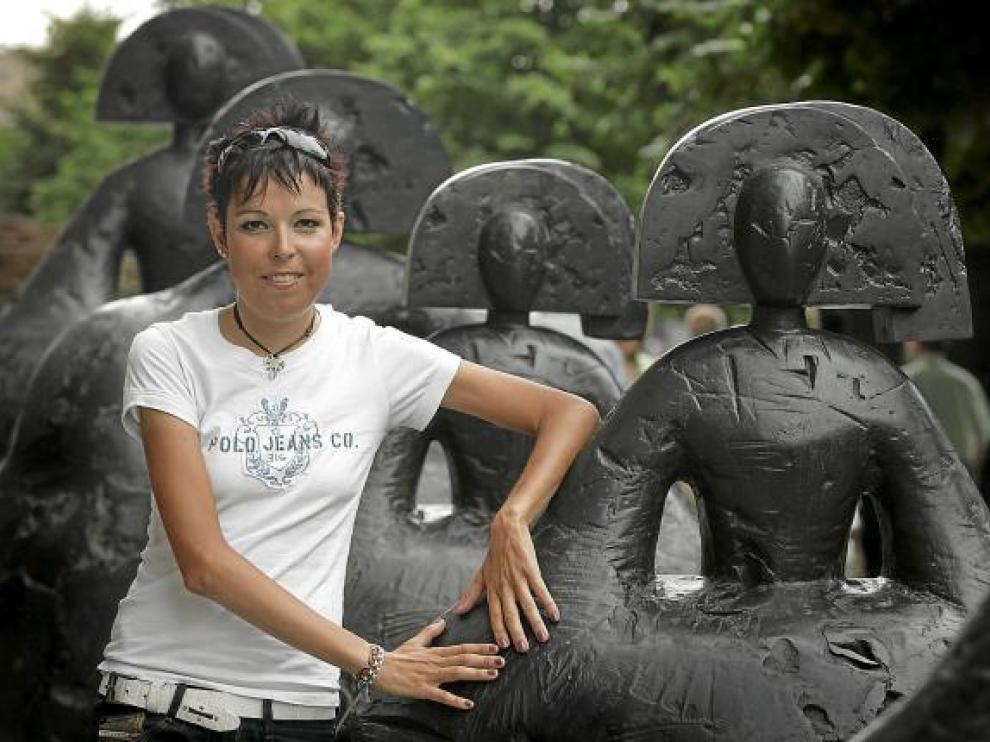 Maribel Moreno, justo antes de viajar a Pekín, en julio de 2008.