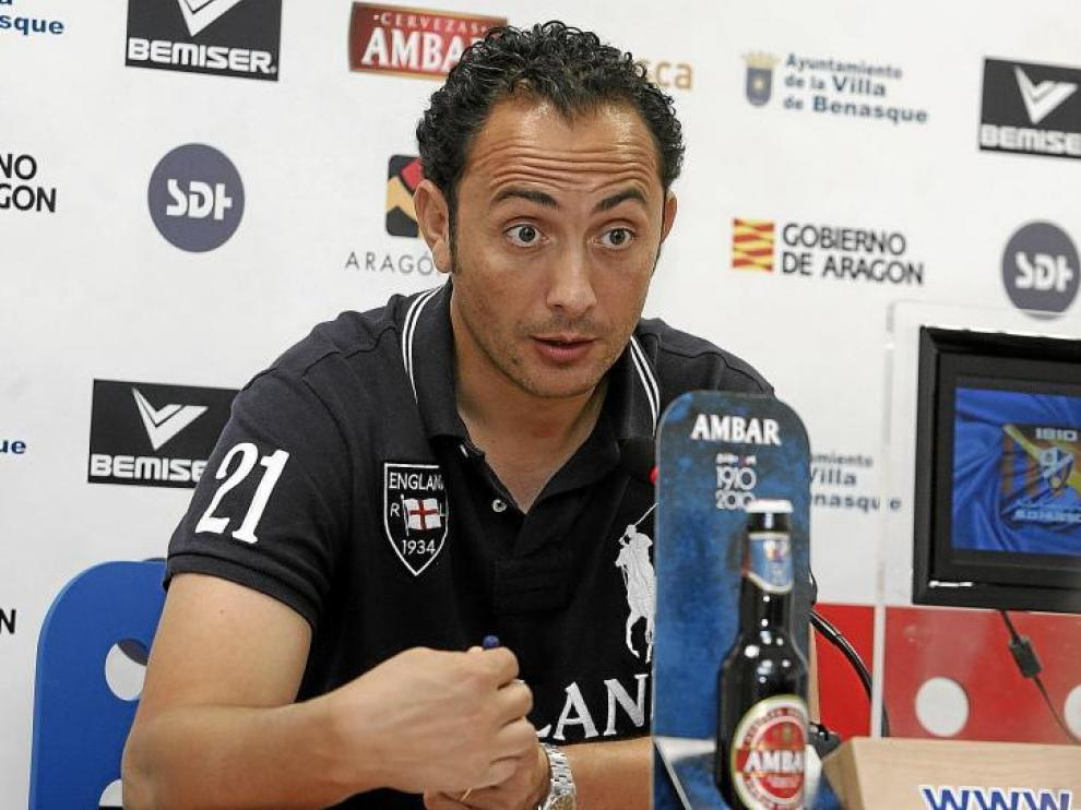 El gerente del Huesca, Raúl Ojeda, en una imagen de archivo