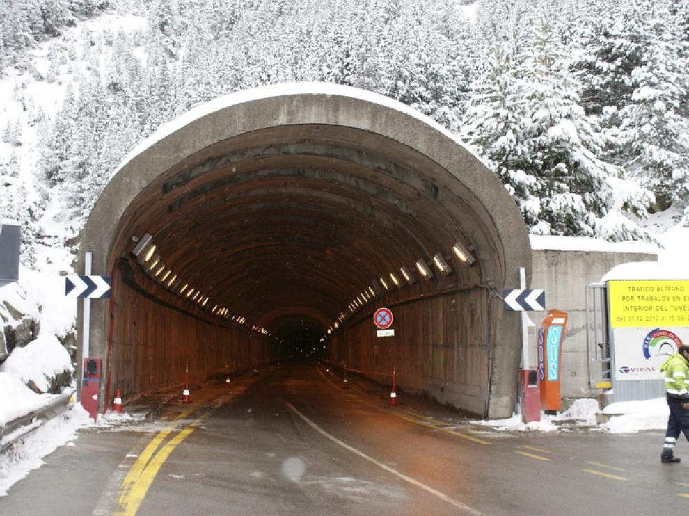 Foto de archivo del túnel de Bielsa