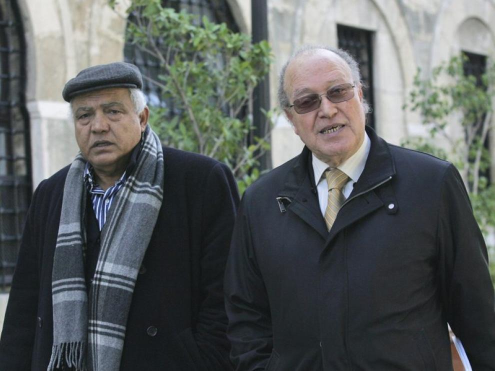 El jefe del Frente Democrático por el Trabajo y las Libertades y el secretario general del movimiento Etajdid