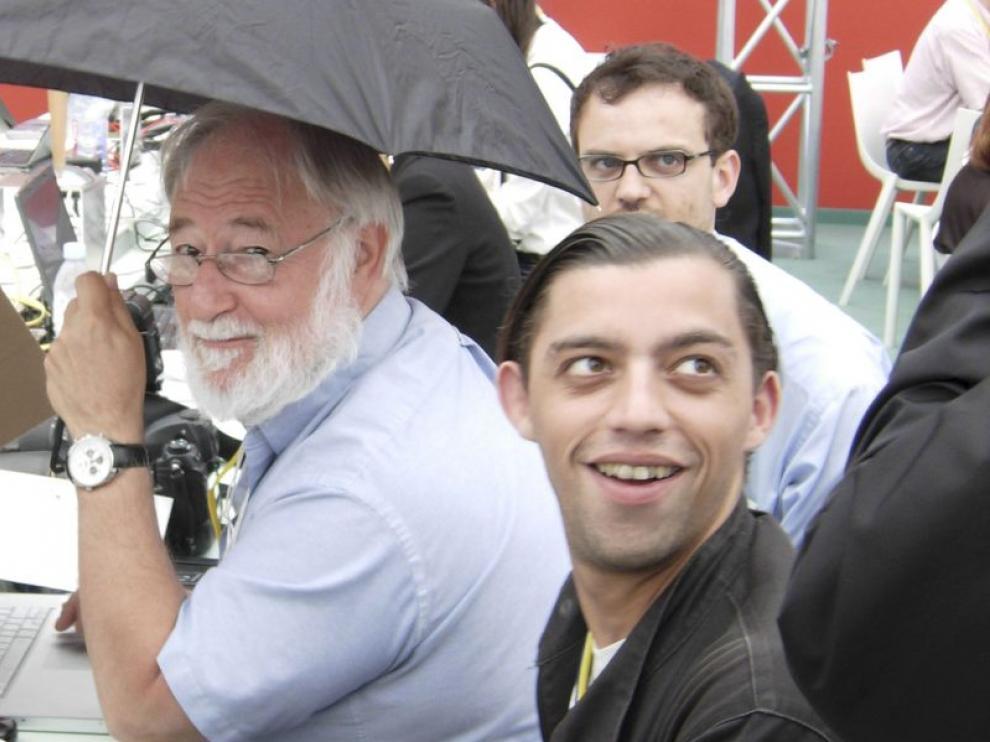 Lucas Dolega, antes de una sesión plenaria de la Cumbre del Mediterráneo, en París, en 2008
