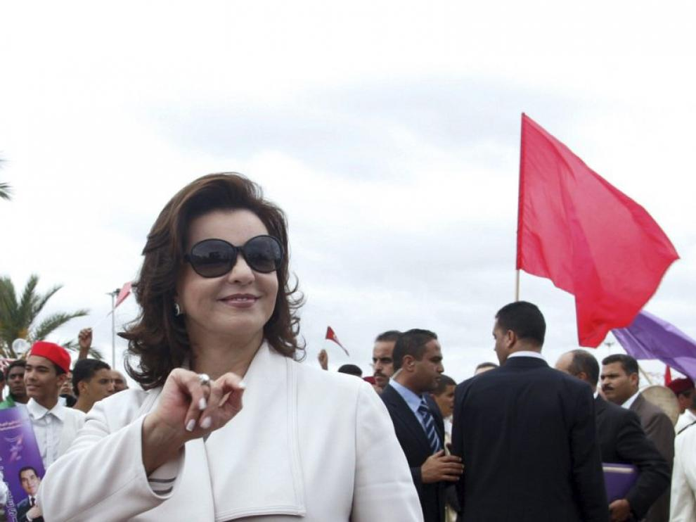 Foto de archivo de Leila Trabelsi