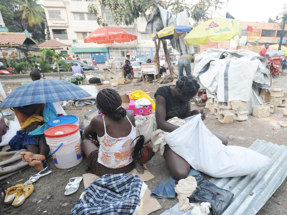 Campamento en los suburbios de Puerto Príncipe.