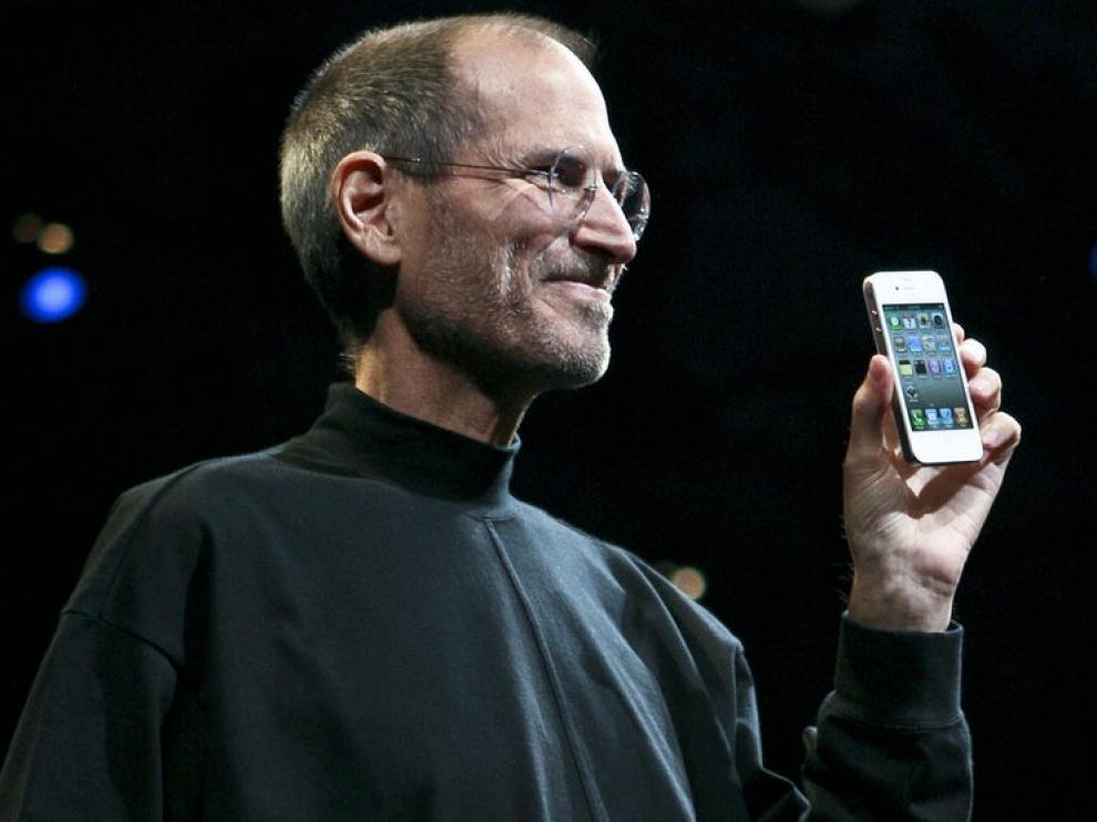 Steve Jobs el pasado julio, durante la presentación del iPhone 4