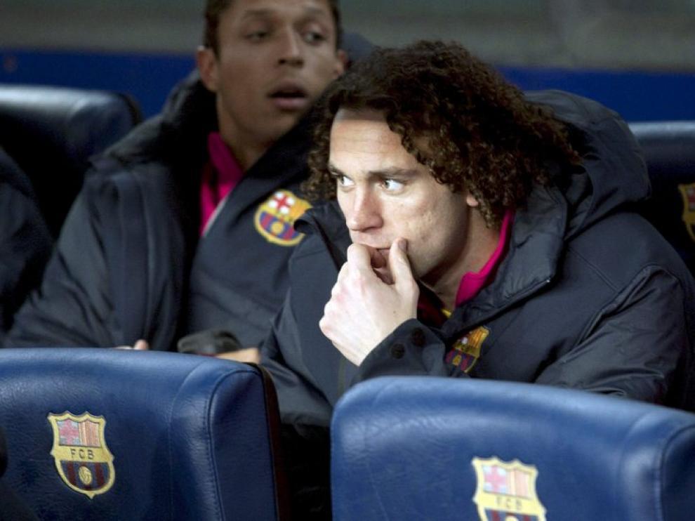 Gaby, en el banquillo del Camp Nou