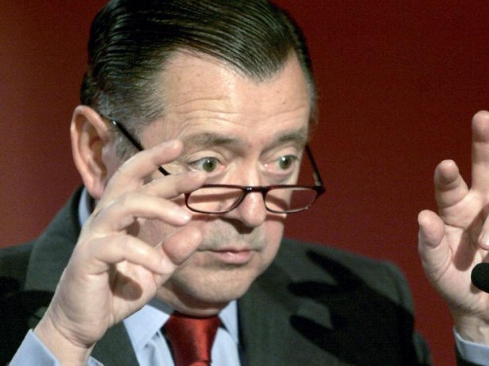 El consejero delegado de Banco Santander Alfredo Sáenz, en 2007