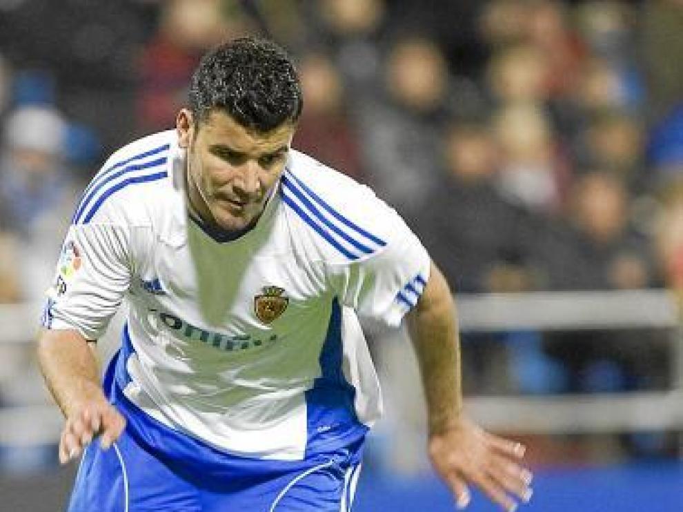Braulio, ariete canario del Real Zaragoza, en una imagen de archivo.