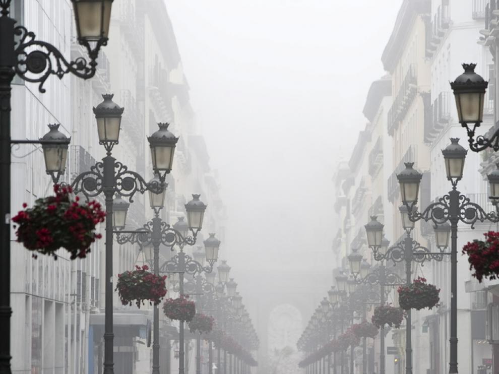 La niebla afecta a Zaragoza desde el pasado sábado