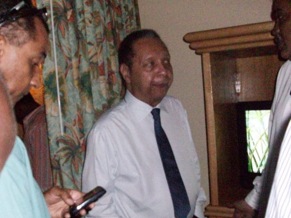 Jean Claude Duvalier, en el hotel Karibe de Puerto Príncipe, hoy
