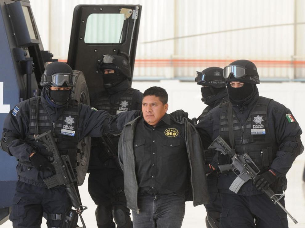 Flavio Méndez, alias 'El amarillo', tras su captura