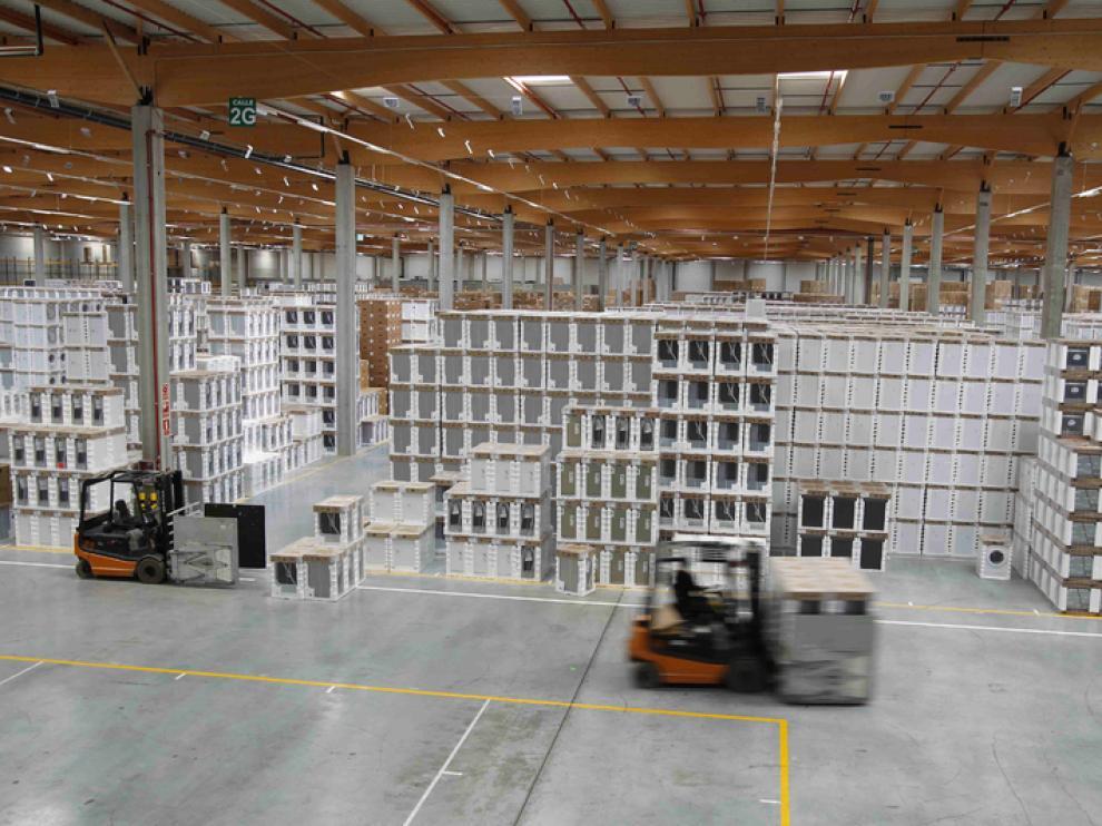 Almacén de la empresa BSH Electrodomésticos España en la Plataforma Logística de Zaragoza