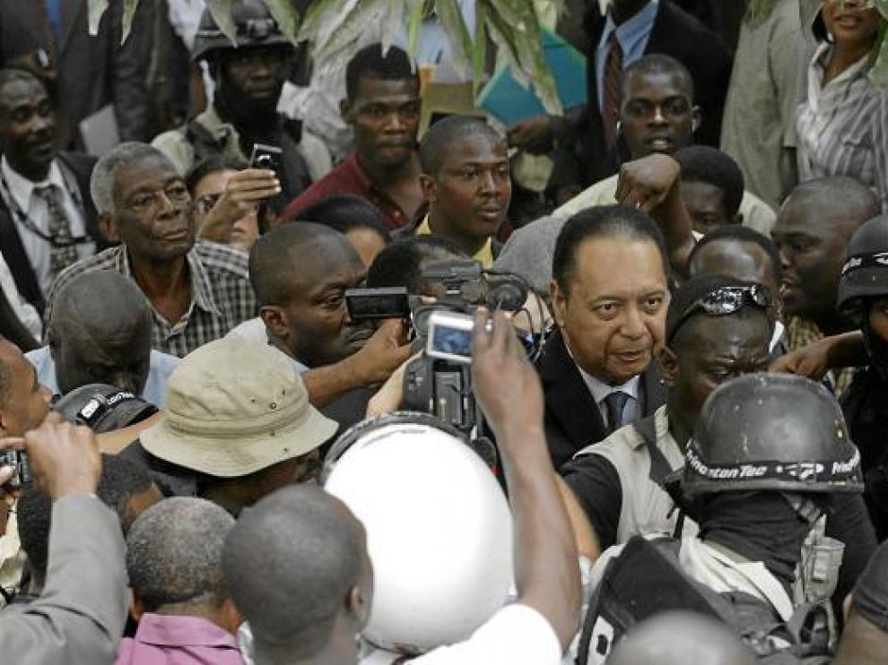 El ex dictador Jean Claude Duvalier, en Puerto Príncipe.