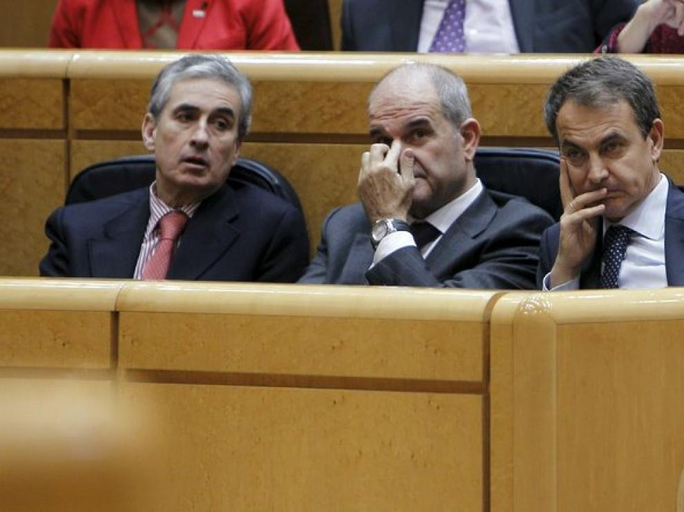 Chaves y Zapatero, hoy en el Senado