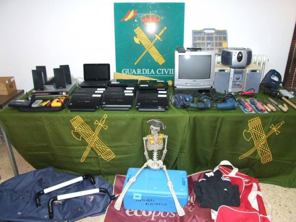Objetos robados en el colegio.