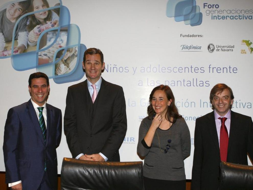 Foro generacions interactivas, que preside Iñaki Urdangarín.
