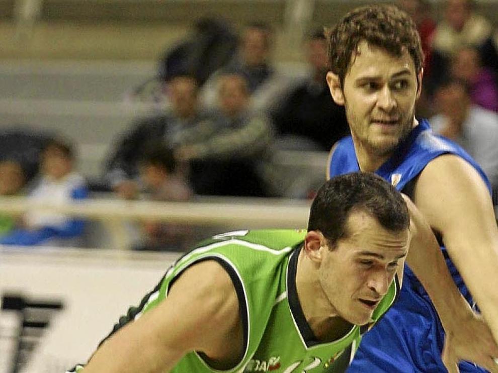 Salsón en el partido contra el Lleida, en el Palacio