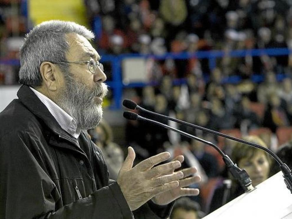 El secertario general de UGT, Cándido Méndez