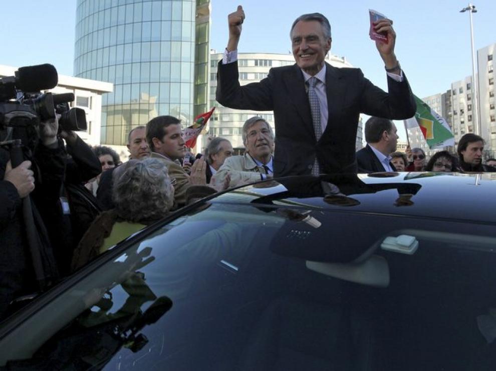 Cavaco durante un acto electoral.