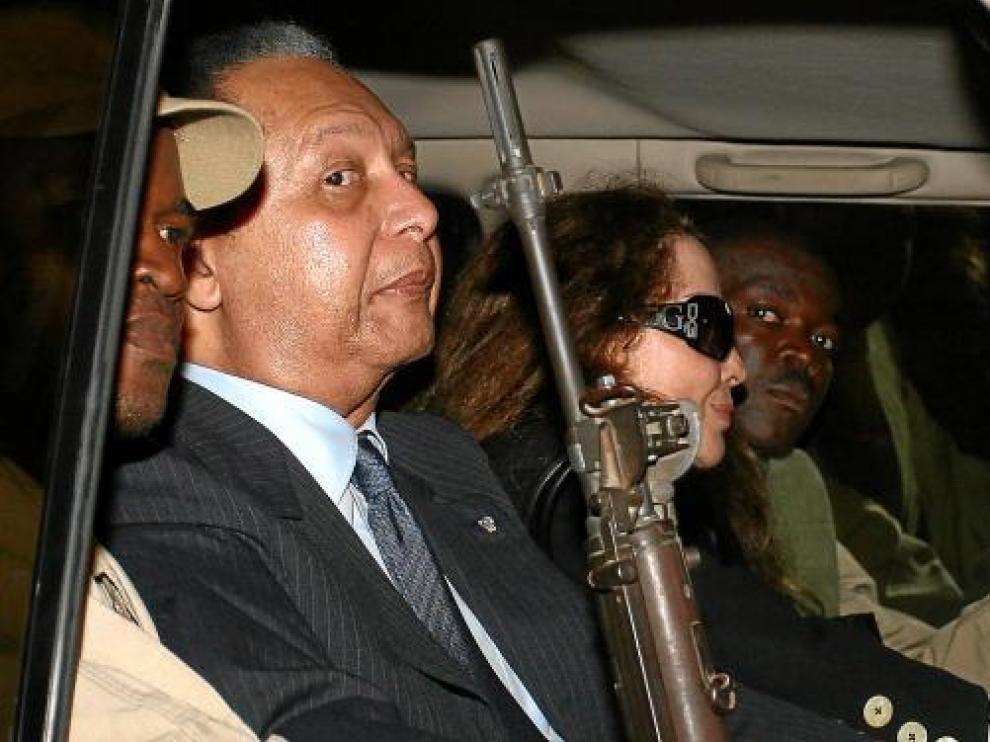El ex dictador Duvalier, a su llegada el pasado domingo a Puerto Príncipe.
