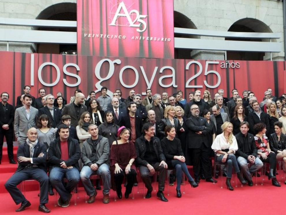 Foto de familia de los candidatos a los premios Goya