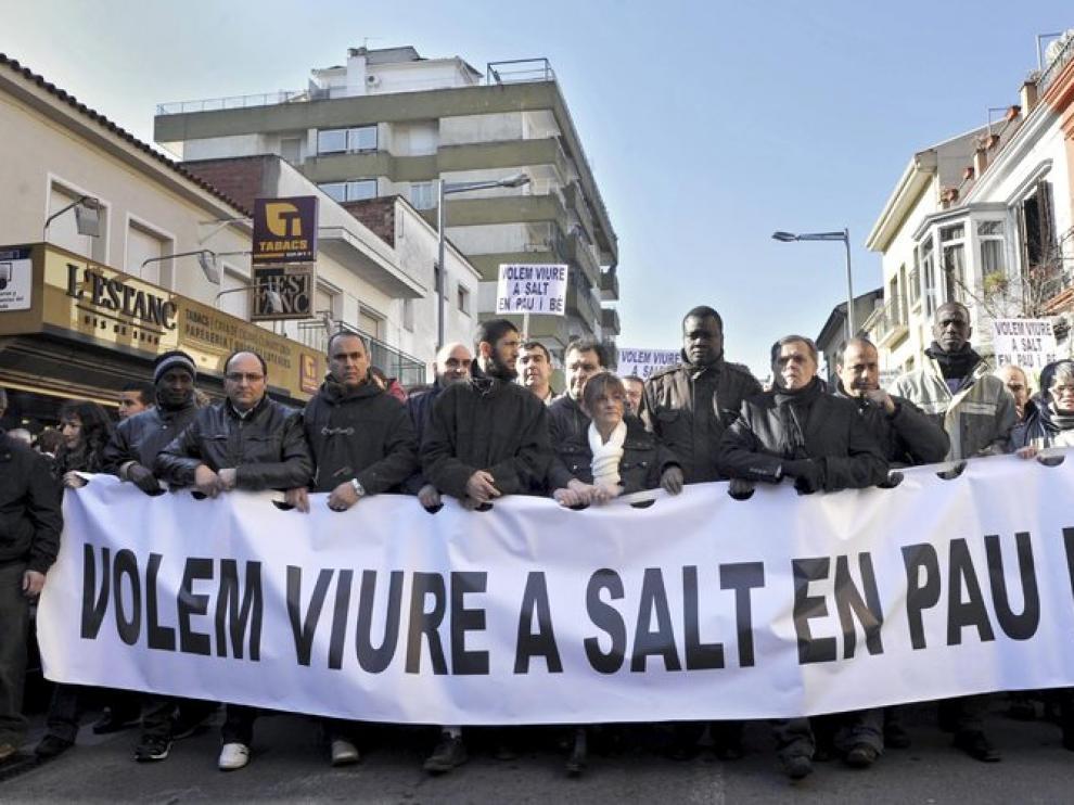 Momento de la manifestación en Salt