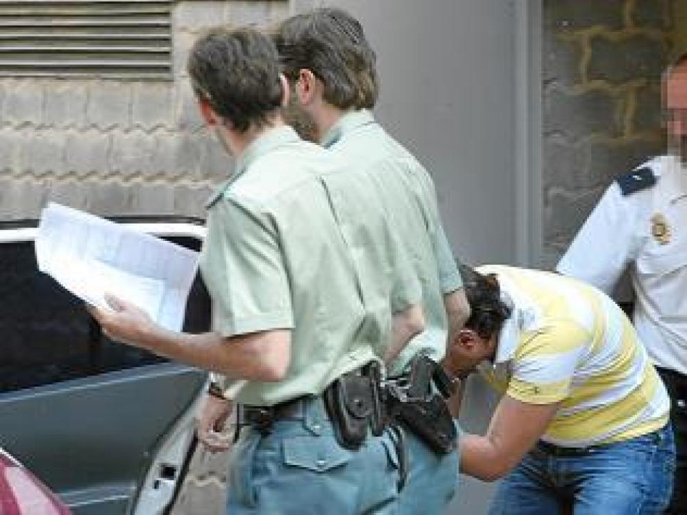El acusado, en 2007, cuando fue enviado a prisión preventiva.