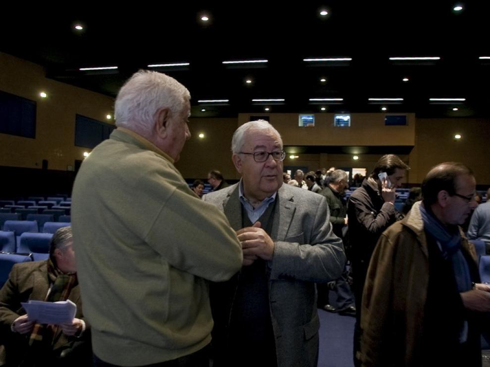 José Ángel Biel, esta mañana, en la reunión del PAR