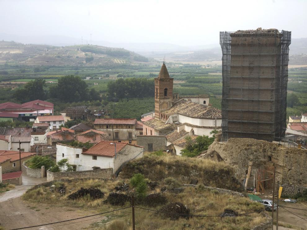 La torre Albarrana de la localidad zaragozana de Maluenda donde se instalará Geosys S.L.