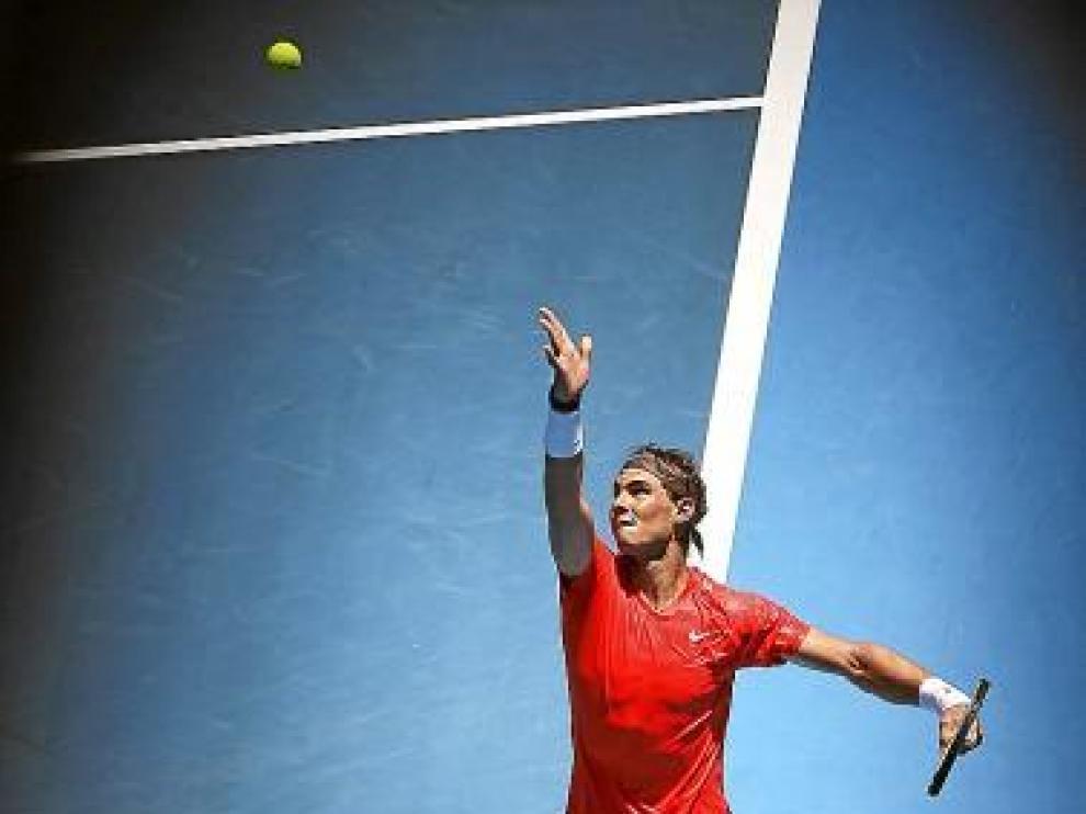 Rafa Nadal, durante un partido del Open de Australia.