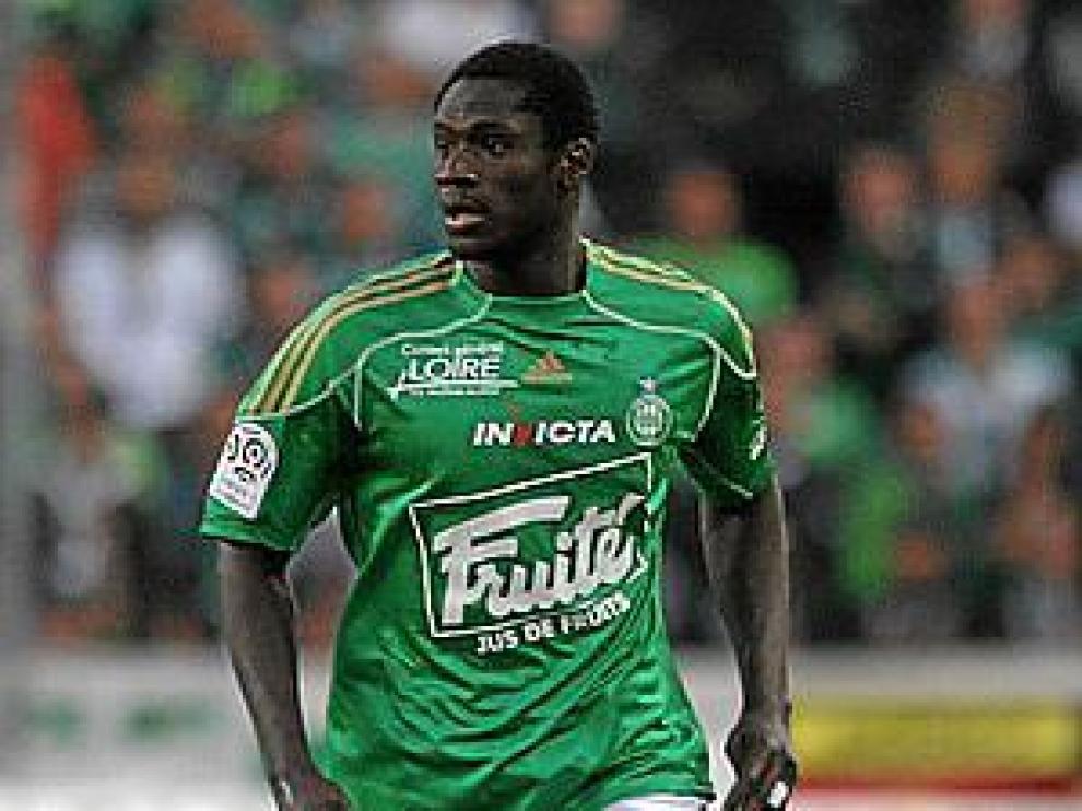 N'Daw, en un partido reciente con el Saint Etienne.