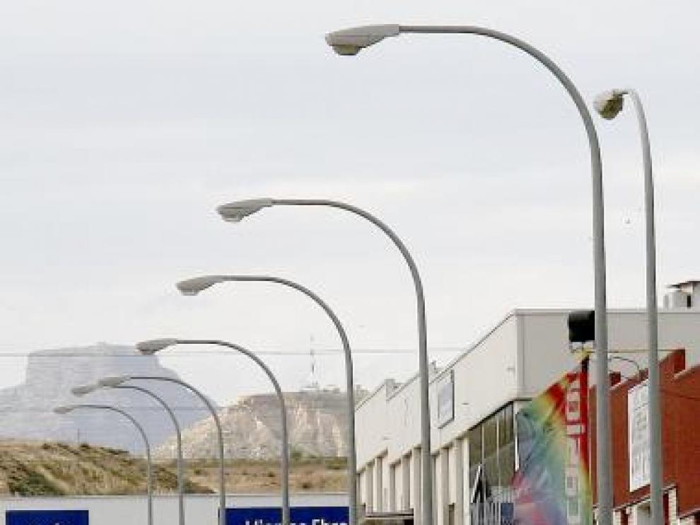 Foto de archivo de una de las calles del polígono industrial Monzú.