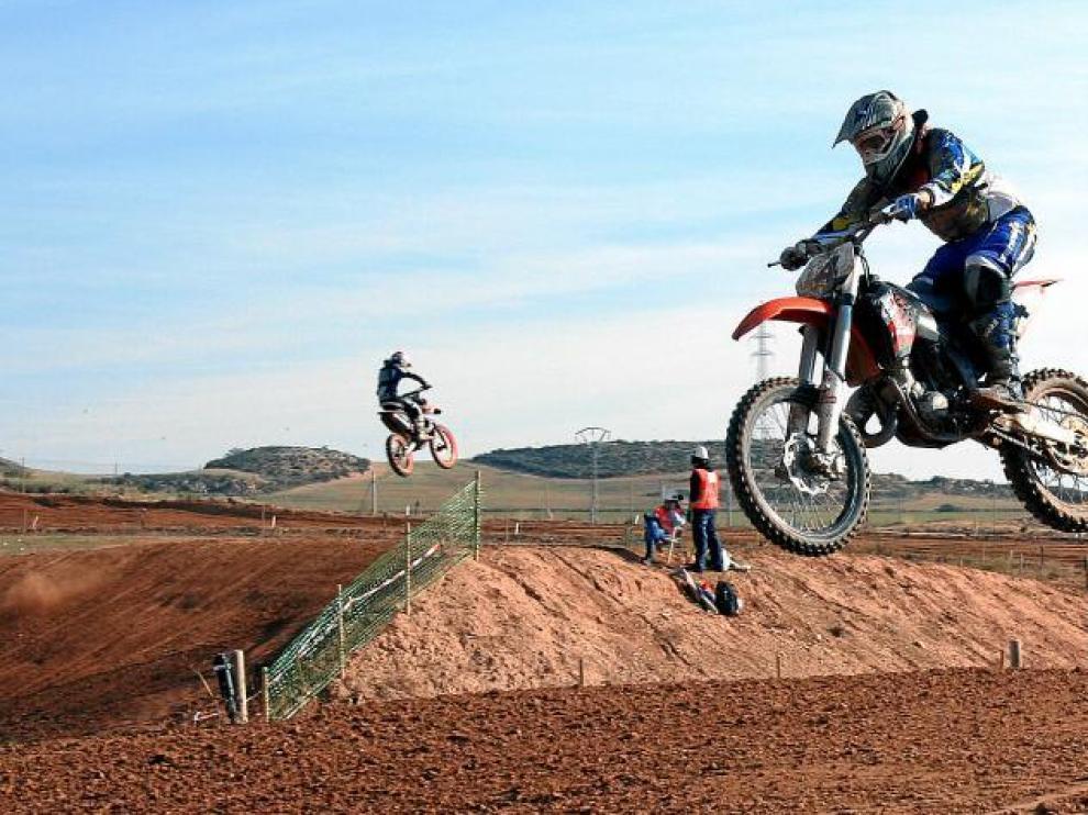 Prueba del Campeonato de Aragón de Motocross disputada en el completo de Motorland en Alcañiz la pasada campaña.