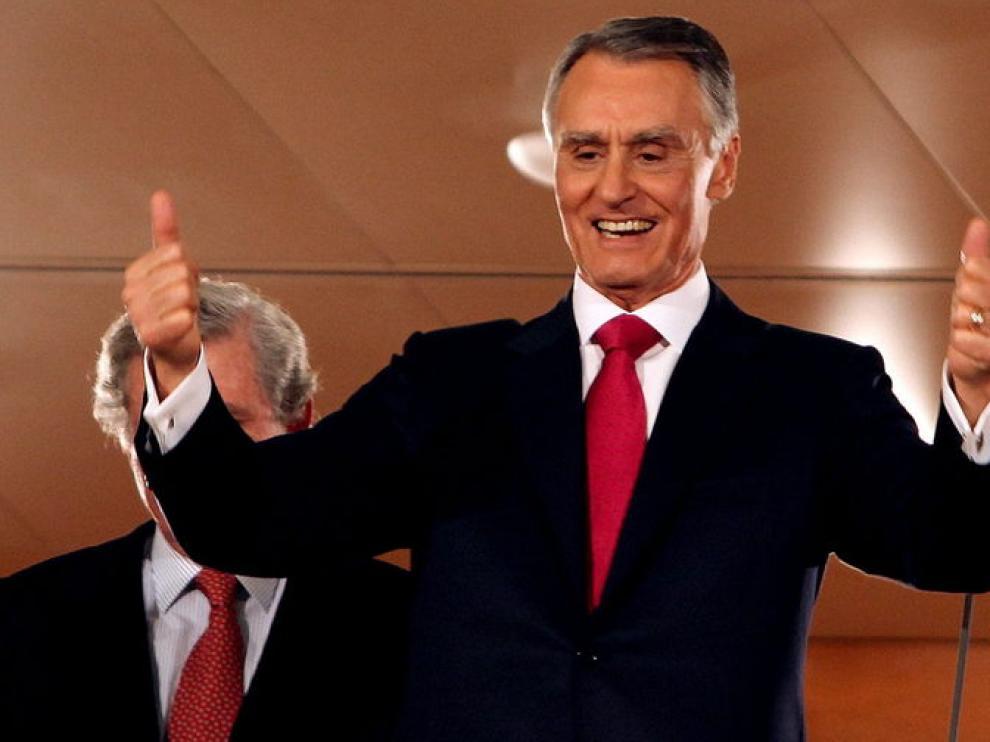 El presidente reelegido, celebra su victoria