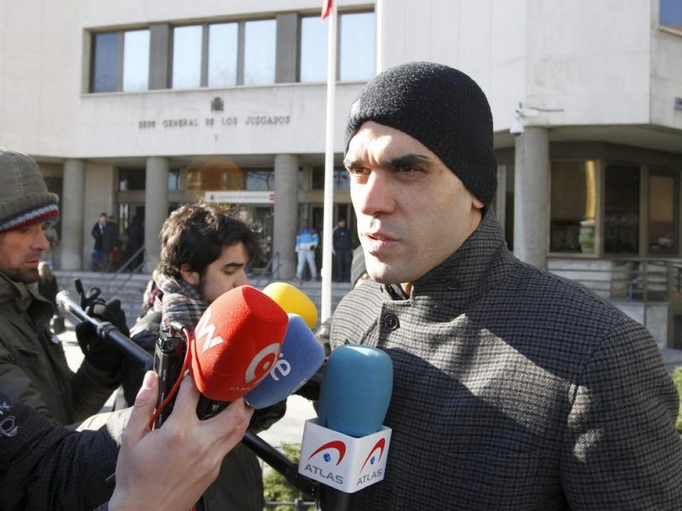 Reyes Estévez, tras declarar como testigo.