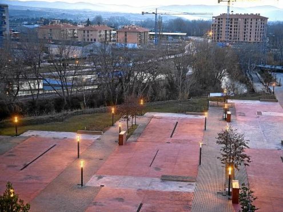Vista del entorno de Ramón y Cajal y el recinto ferial donde podría habilitarse un aparcamiento.
