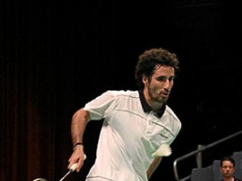 Pablo Abían, en acción en un torneo europeo.
