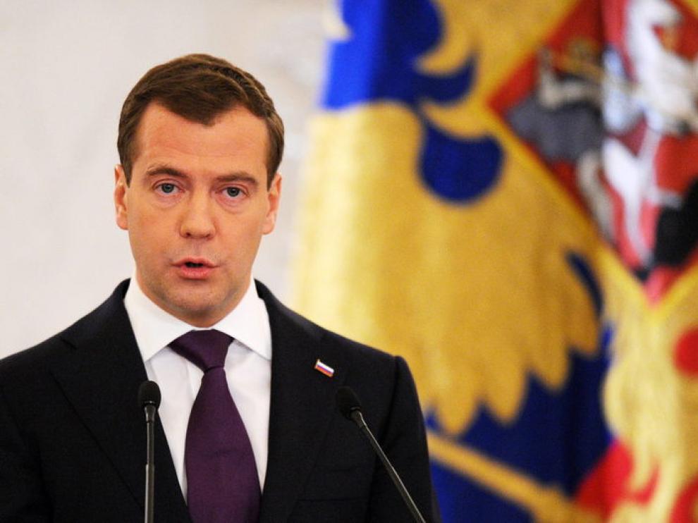 El primer ministro ruso, Dmitri Medvédev
