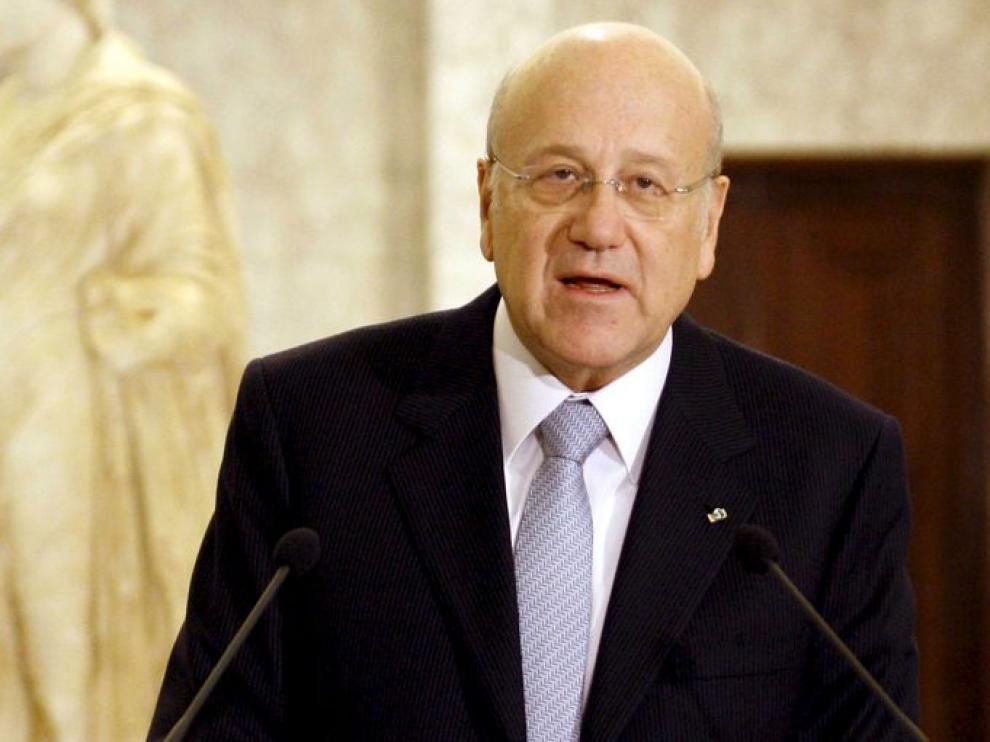 El nuevo primer ministro libanés Nayib Mikati.