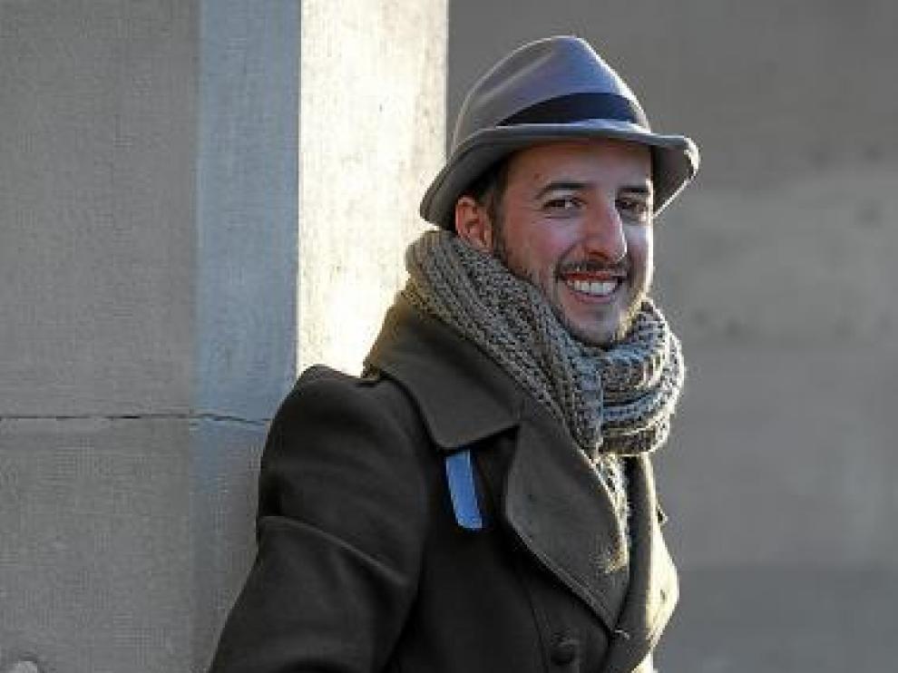 Diego Peña, helado en la tarde de ayer. Pero riendo, claro.