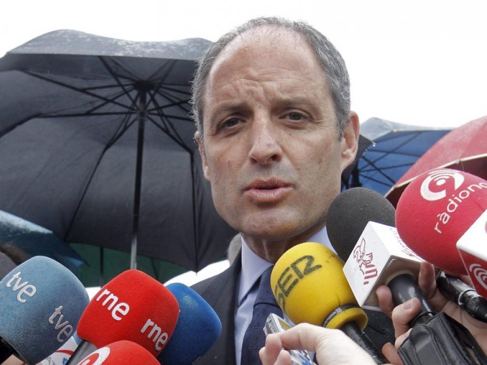 El presidente del gobierno valenciano, Francisco Camps